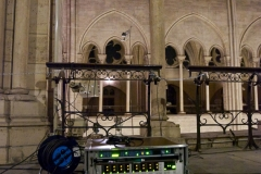 Pre Amps and Digital Converters were setup in the triforium